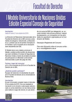 I Modelo Universitario de Naciones Unidas - Edición Especial Consejo de Seguridad