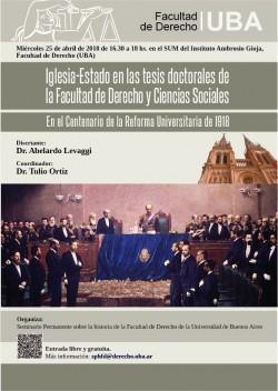 Iglesia-Estado en las tesis doctorales de la Facultad de Derecho y Ciencias Sociales