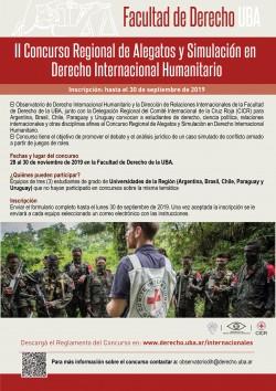 II Concurso Regional de Alegatos y Simulación en Derecho Internacional Humanitario