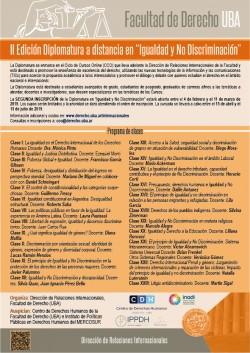 """II Edición Diplomatura a distancia en """"Igualdad y No Discriminación"""""""