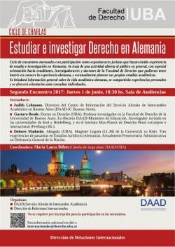 II Encuentro del Ciclo de charlas - Estudiar e investigar Derecho en Alemania