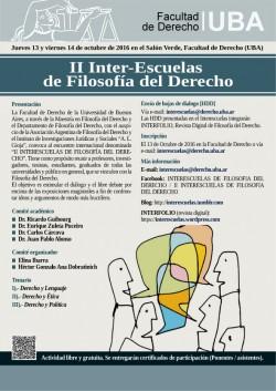 II Inter-Escuelas de Filosofía del Derecho