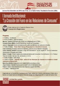 """II Jornada Institucional: """"La Creación del Fuero en las Relaciones de Consumo"""""""