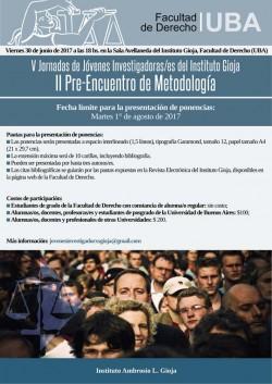 II Pre-Encuentro de Metodología: V Jornadas de Jóvenes Investigadoras/es del Instituto Gioja