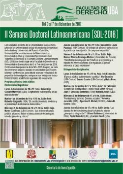 II Semana Doctoral Latinoamericana (SDL-2018)