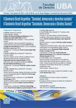 """II Seminario Brasil-Argentina: """"Sociedad, democracia y derechos sociales"""""""
