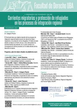 II Seminario de posgrado online - Corrientes migratorias y protección de refugiados en los procesos de integración regional