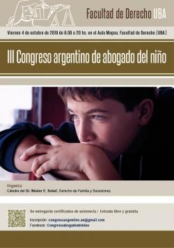 III Congreso argentino de abogado del niño
