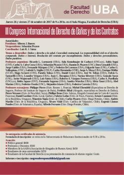 III Congreso Internacional de Derecho de Daños y de los Contratos