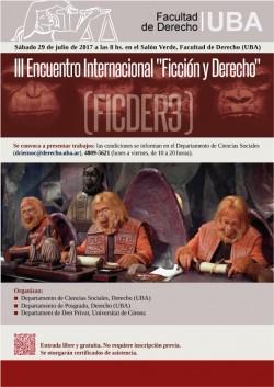 """III Encuentro Internacional """"Ficción y Derecho"""" (FICDER3)"""