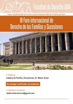 III Foro internacional de Derecho de las Familias y Sucesiones