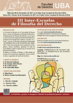 III Inter-Escuelas de Filosofía del Derecho
