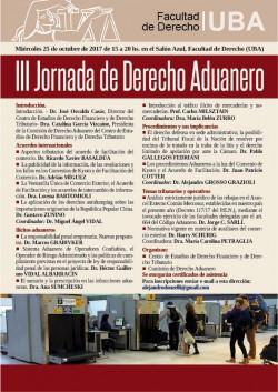 III Jornada de Derecho Aduanero