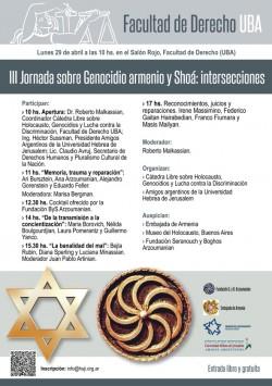III Jornada sobre Genocidio armenio y Shoá: intersecciones