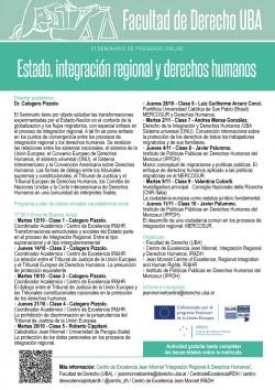 III Seminario de posgrado online. Estado, integración regional y derechos humanos