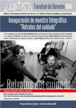 """Inauguración de muestra fotográfica """"Retratos del cuidado"""""""