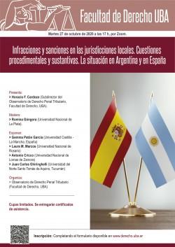 Infracciones y sanciones en las jurisdicciones locales. Cuestiones procedimentales y sustantivas. La situación en Argentina y en España