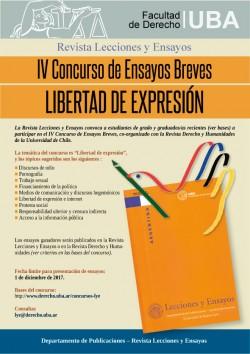 IV concurso de ensayos breves: Libertad de expresión