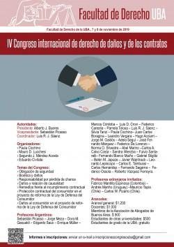 IV Congreso internacional de derecho de daños y de los contratos