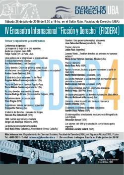"""IV Encuentro internacional """"Ficción y derecho"""" (FICDER4)"""
