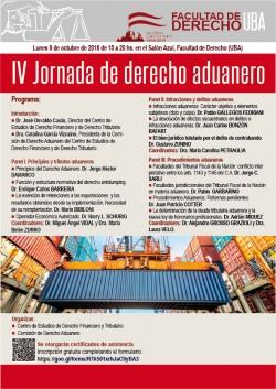 IV Jornada de derecho aduanero