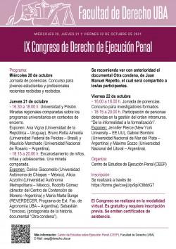 IX Congreso de Derecho de Ejecución Penal