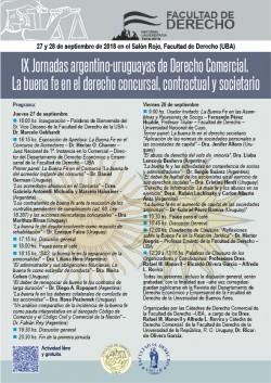 IX Jornadas argentino-uruguayas de Derecho Comercial. La buena fe en el derecho concursal, contractual y societario