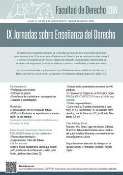 IX Jornadas sobre Enseñanza del Derecho