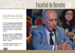 Jorge Reinaldo Vanossi, profesor honorario de la UBA