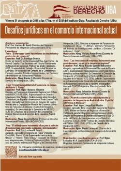 """Jornada """"Desafíos jurídicos en el comercio internacional actual"""""""