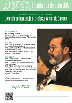 Jornada en homenaje al profesor Armando Canosa