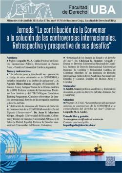 """Jornada """"La contribución de la Convemar a la solución de las controversias internacionales. Retrospectiva y prospectiva de sus desafíos"""""""