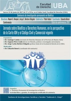Jornada sobre Bioética y Derechos Humanos, en la perspectiva de la Corte IDH y el Código Civil y Comercial vigente