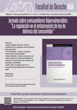 """Jornada sobre consumidores hipervulnerables: """"La regulación en el anteproyecto de ley de defensa del consumidor"""""""