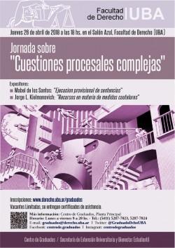 """Jornada sobre """"Cuestiones procesales complejas"""""""