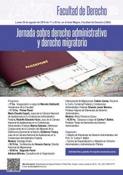 Jornada sobre derecho administrativo y derecho migratorio