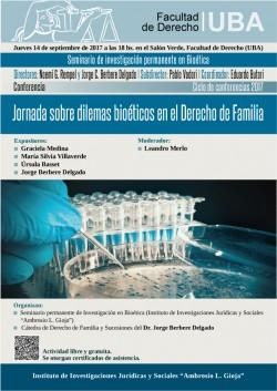 Jornada sobre dilemas bioéticos en el Derecho de Familia