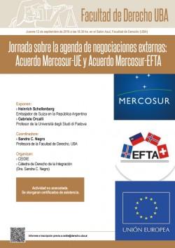 Jornada sobre la agenda de negociaciones externas: Acuerdo Mercosur-UE y Acuerdo Mercosur-EFTA