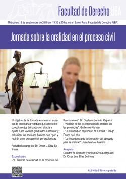 Jornada sobre la oralidad en el proceso civil