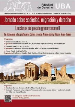 Jornada sobre sociedad, migración y derecho