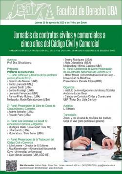 Jornadas de contratos civiles y comerciales a cinco años del Código Civil y Comercial