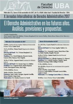 X Jornadas Intercátedras de Derecho Administrativo