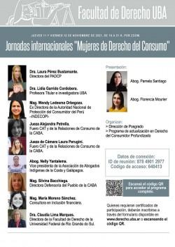 """Jornadas internacionales """"Mujeres de Derecho del Consumo"""""""