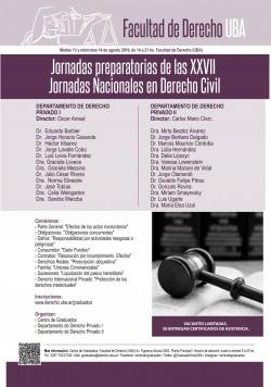 Jornadas preparatorias de las XXVII Jornadas Nacionales de Derecho Civil