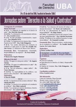 """Jornadas sobre """"Derecho a la Salud y Contratos"""""""