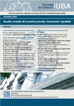 Jornadas sobre Desafíos actuales de la justicia porteña. Autonomía e igualdad