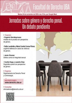 Jornadas sobre género y derecho penal. Un debate pendiente