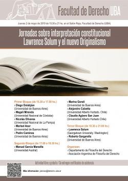 Jornadas sobre interpretación constitucional. Lawrence Solum y el nuevo Originalismo