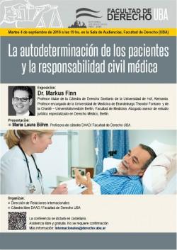 La autodeterminación de los pacientes y la responsabilidad civil médica