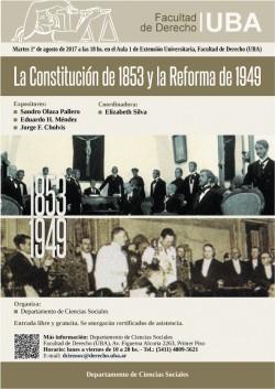 La Constitución de 1853 y la Reforma de 1949